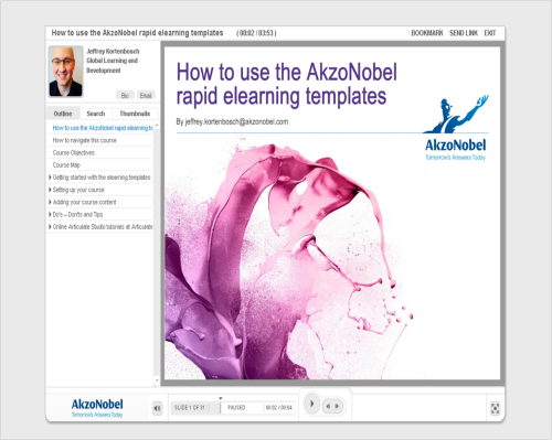 AkzoNobel creates Articulate Studio-based online courses to teach users how to use the software
