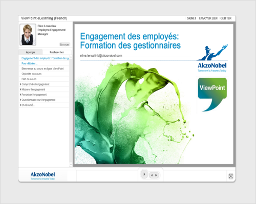 French-based Articulate course created by AkzoNobel
