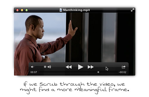 Scrub through your elearning video for an interesting frame.